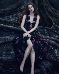 Model Ali Michael stars in How to Spend It Magazine Editorial. She wears Elie Saab lace and macrame gown. Ali Michael, Floral Evening Gown, Floral Gown, Evening Gowns, Elie Saab, Floral Fashion, Love Fashion, Trendy Fashion, Fashion Shoot