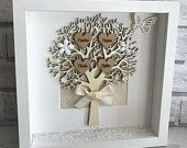 Personalised Home Decor & Gifts by HeavenlyBlueGifts on Etsy Personalised Family Tree, Personalized Gifts, Handmade Gifts, Scrabble, Shabby Chic Shops, Wooden Roses, Family Tree Frame, Christmas Words, Flower Letters