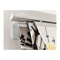 KVARTAL Gardinskena, 3 spår IKEA Enkelt att skapa en lager-på-lager-lösning eftersom skenan har 3 spår.
