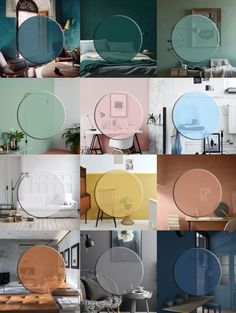 A calendar of 2016 colour trends for home decor -
