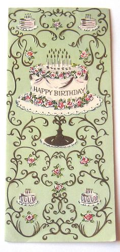 Vintage Birthday Card Happy Birthday UNUSED by starmango on Etsy Birthday Card Sayings, Vintage Birthday Cards, Happy Birthday Quotes, Happy Birthday Images, Birthday Pictures, Happy Birthday Wishes, Vintage Greeting Cards, Birthday Greetings, It's Your Birthday