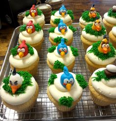 Angry Birds Cupcakes created by 350 Classic Bakeshop in Mamaroneck , NY