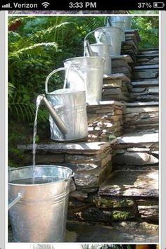Cheap garden fountain.
