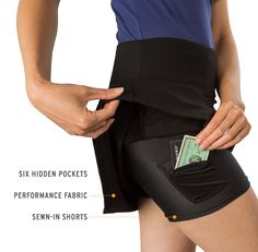 $88 Women's travel yoga skort with pockets via beta brand (highly recommended by Tsh!)
