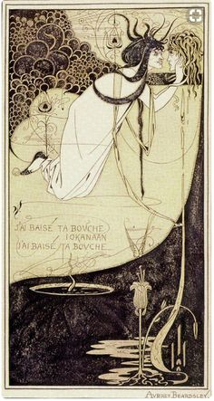 Salome: The Climax by Aubrey Beardsley, 1893. Ink and green wash