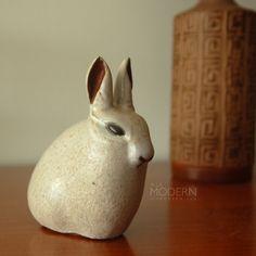 Ceramic bunny from Andersen Studio.