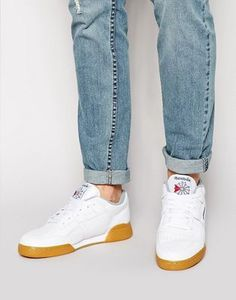 Buy Reebok Workout Plus Trainers In White at ASOS. With free delivery and return options (Ts&Cs apply), online shopping has never been so easy. Get the latest trends with ASOS now. Reebok White Sneakers, White Reebok, Adidas Sneakers, Reebok Workout Plus, Asos, Nike Sb, Adidas Stan Smith, Perfect Man, Best Brand