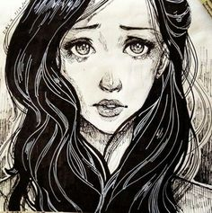 crying girl drawing - Google Search