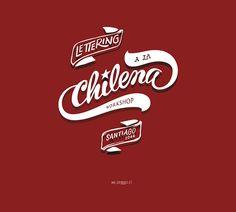 Lettering a la Chilena Workshop by PeGGO, via Behance