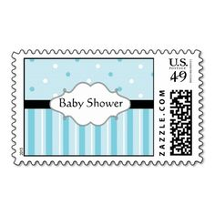 Baby Shower Postage Stamps Blue! Make your own stamps more personal to celebrate the arrival of a new baby. Just add your photos and words to this great design.
