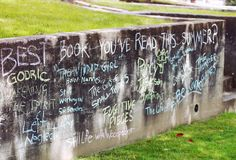 I would love to do this somewhere.  And its not graffiti, I'm pretty sure its chalk. :)
