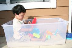 Apartment Balcony Budget Toddler Sandbox