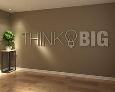Think Big Office Wall Art Decor PVC Typography Source by chichivalladare