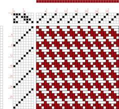 draft image: 4 schäftig mit 8 Karten 15, Lehr-Methode der Weberei, Ferdinand A. Langewald, 4S, 8T