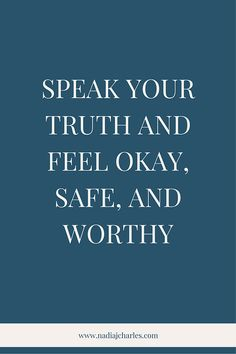 Speak Your Truth and Feel Okay, Safe, and Worthy | Nadia J Charles | Clinical Hypnotherapist & Life Coach