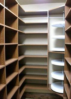 Pantry closet shelves lazy susan ideas for 2019 Pantry Shelving, Closet Shelves, Pantry Storage, Closet Storage, Kitchen Storage, Storage Room, Pantry Closet, Walk In Pantry, Kitchen Pantry