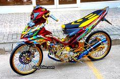 Modifikasi Fu Racing Suzuki Raider 150 Thailook  fu