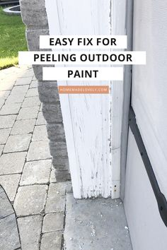 An Easy Solution to Peeling Outdoor Paint - Linda Sloan - An Easy Solution to Peeling Outdoor Paint Older homes can have a lot of peeling paint if the wood trim has been exposed to the elements. Here's an easy solution to peeling outdoor paint! Outdoor Projects, Home Projects, Home Fix, Peeling Paint, Diy Home Repair, Up House, House Rules, House Goals, Home Upgrades