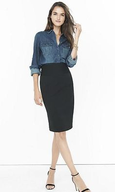 ef9739e18ba 49 Elegant and Girlish Pencil Skirt Outfit Ideas For Work That You ll Love