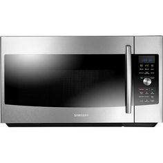 Samsung - 1.7 Cu. Ft. SLIM FRY Over-the-Range Convection Microwave - Stainless-Steel - Front Zoom