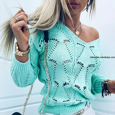 Casual Sweaters, Casual Tops, Sweaters For Women, Casual Chic, Trend Fashion, Daily Fashion, Womens Fashion, Fashion Online, Style Fashion