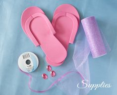 pedicure slippers tutorial- compliments of Frog Prince Paperie