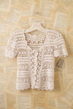 Crochetemoda: Blusa Branca de Crochet XVI