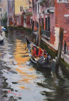 Venice by Bogdan Goloyad  35x24 cm oil on by BogdanGoloyadArt