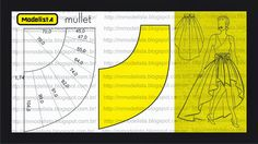 ModelistA: Skirt pattern tutorial- this would make a cute skirt for Barbie - use translator!.