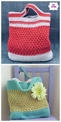 Crochet Brickwork Beach Bag Free Crochet Pattern - DIY Magazine - Crochet Brickwork Beach Bag Free Crochet Pattern Source by velamond Crochet Beach Bags, Crochet Market Bag, Crochet Gifts, Crochet Bags, Hat Crochet, Tote Pattern, Purse Patterns, Crochet Patterns, Crochet Bag Free Pattern