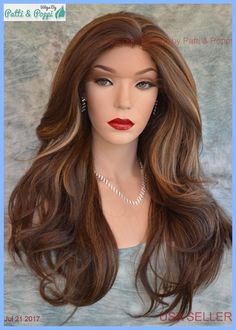 Swiss Lace Front Wig 4X4 Silk Top Handtied Heat Safe  FS8.27.613 Long Thick 1228 #SEPIA