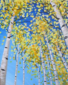 I am going to paint Up Through the Aspens at Pinot's Palette - Bricktown to discover my inner artist!