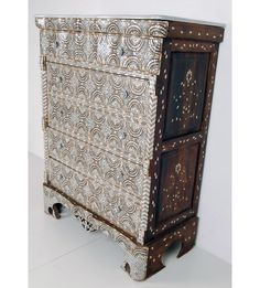 Late 19th Century Syrian Inlaid Chest of Drawers