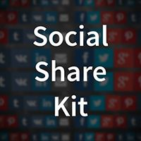 Library of decent and good looking social sharing icons, buttons and popups