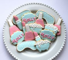 Spa party cookies by Miss Biscuit