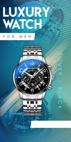 cb60977e8be7 CUENA luxury Stainless Steel Quartz Watches - Silver Black Men s top  fashion brand designer affordable style