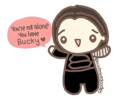 We've been seeing several posts and comments about how many people are celebrating the holiday season and the new year alone (I am too!)… BuckBuck has this message for you! #buckybarnes #wintersoldier #sebastianstan #mintmintdoodles