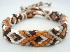 Friendship bracelet, autumn colours. www.good2get.nl, online te bestellen  € 3 p.st