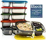 #4: Divided Lunch Containers for Portion Control Meal Prep. Bento Box for Adults Healthy Compartment Lunch Boxes for Kids.FDA Approved and BPA Free  ( Set of 6) Mealports.