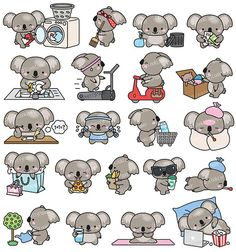 clipart girl / clipart girl clipart girl clip art clipart girl illustrations clipart girl black and white Illustration Koala, Illustration Mignonne, Kawaii Drawings, Cute Drawings, Animal Drawings, Kawaii Doodles, Cute Doodles, Griffonnages Kawaii, Stickers