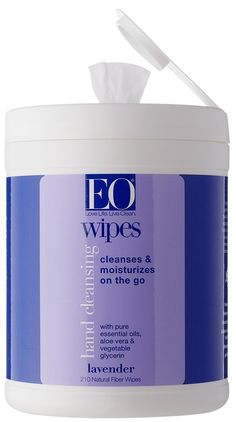EO Hand Cleansing Natural Fiber Wipes, Lavender, 210 Wipes ** Tried it! Love it! Click the image. : Natural Beauty Care