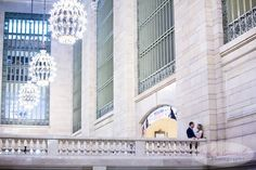 NYC Wedding Engagement Photography Unique Ideas New York Grand Central Balcony2