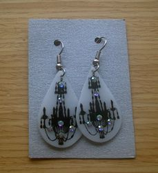 Shrink plastic earrings (stamped)