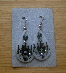 Shrink plastic earrings (stamped)