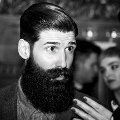 Carlos Costa - beautiful very black thick beard and mustache beards bearded hair man men mens' style model handsome #beardsforever
