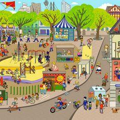 Пазл онлайн: Детская площадка