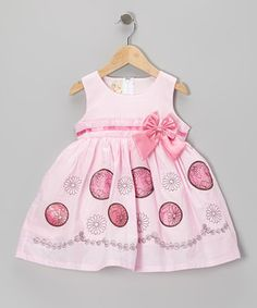Look what I found on #zulily! the Silly Sissy Pink Bow A-Line Dress - Toddler & Girls by the Silly Sissy #zulilyfinds