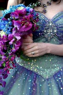 purple sparkle - love the flower bouquet color
