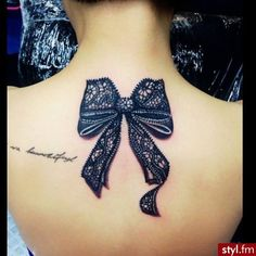 Bow Tattoo in 3D, looks Super