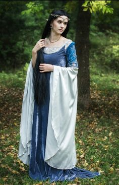Hey, I found this really awesome Etsy listing at https://www.etsy.com/uk/listing/258924243/sale-blue-and-silver-elven-dress